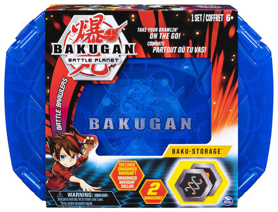 Bakugan Battle Planet Battle Brawlers Baku-Storage Storage Case [Blue, Includes Dragonoid]