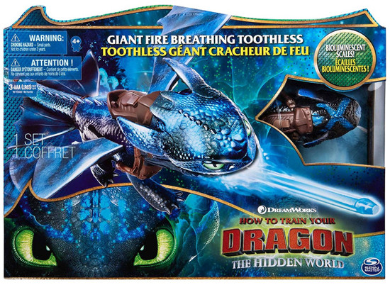 How to Train Your Dragon The Hidden World Giant Fire Breathing Toothless Action Figure