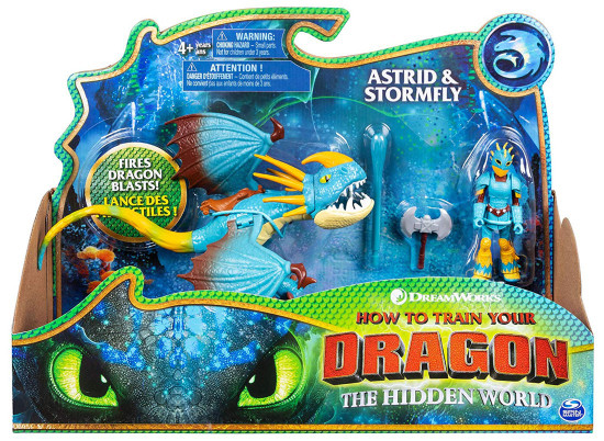 How to Train Your Dragon The Hidden World Astrid & Stormfly Action Figure 2-Pack
