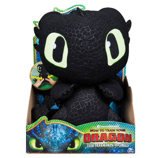 How to Train Your Dragon The Hidden World Squeeze & Growl Toothless 10-Inch Plush with Sound