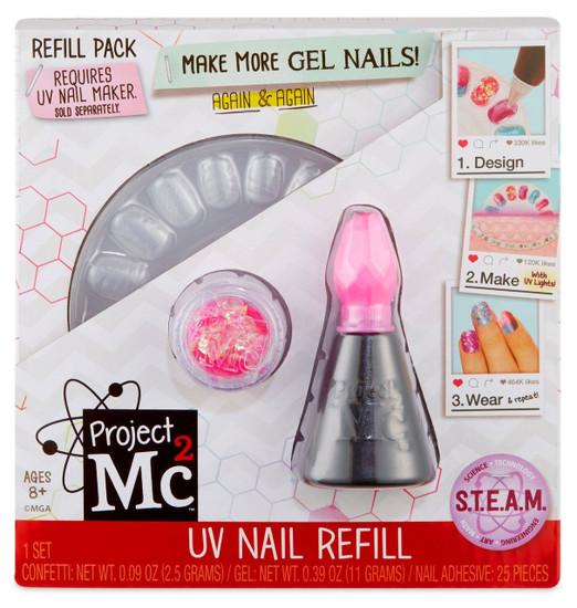 Project MC2 UV Nail Refill Refill Pack [Pink]