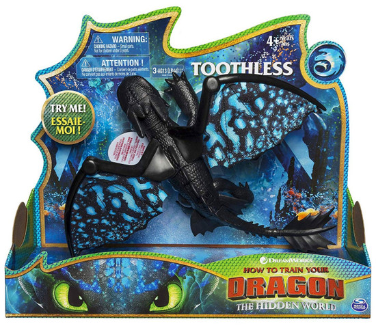 How to Train Your Dragon The Hidden World Toothless Deluxe Action Figure [Lights & Sounds]