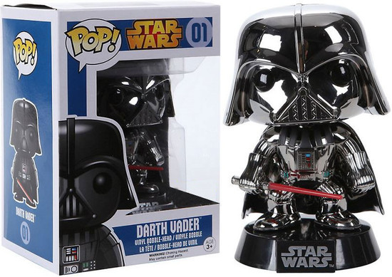 Funko POP! Star Wars Darth Vader Exclusive Vinyl Bobble Head #01 [Chrome Variant Damaged Package]