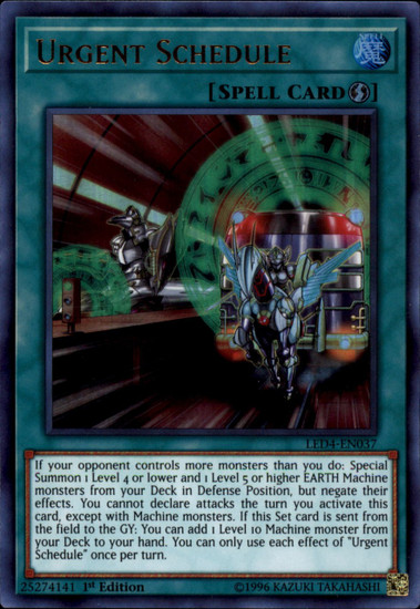 YuGiOh Legendary Duelists Sisters of the Rose Ultra Rare Urgent Schedule LED4-EN037
