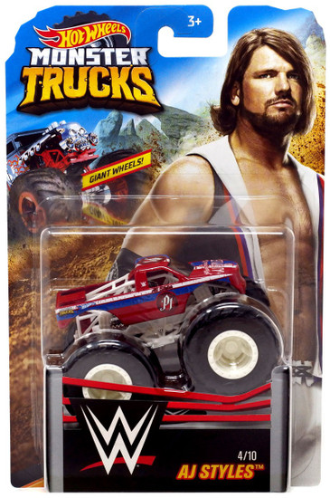 Hot Wheels Monster Trucks WWE AJ Styles Diecast Car