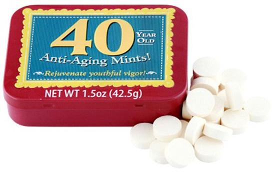 Fun Mints 40 Year Old Anti-Aging Mints Candy Tin