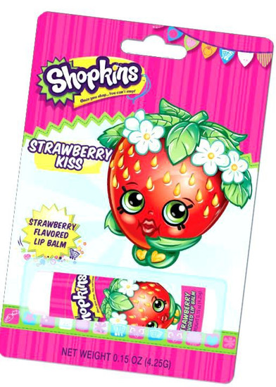 Shopkins Strawberry Kiss Lip Balm Boston America Toywiz