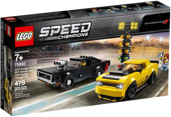 Ncis Team Dodge Charger Roblox Lego Speed Champions 2018 Dodge Challenger Srt Demon 1970 Dodge Charger Rt Set 75893 Toywiz
