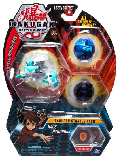 Bakugan Battle Planet Battle Brawlers Starter Pack Haos Hydorous 3-Figure Set