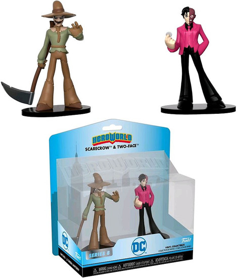 Funko DC Hero World Series 8 Scarecrow & Two-Face 4-Inch Vinyl Figure 5-Pack
