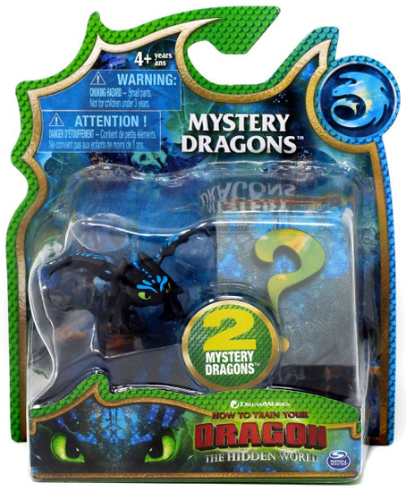 How to Train Your Dragon The Hidden World Mystery Dragons Toothless Mystery 2-Pack [Blue Highlights]