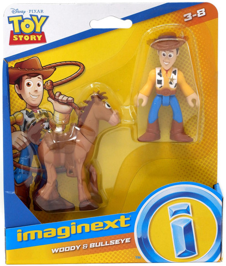 Fisher Price Disney / Pixar Imaginext Toy Story Woody & Bullseye Figure Set