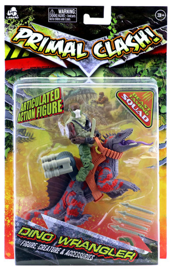 Primal Clash Dino Wrangler Trimetrodon Exclusive Action Figure
