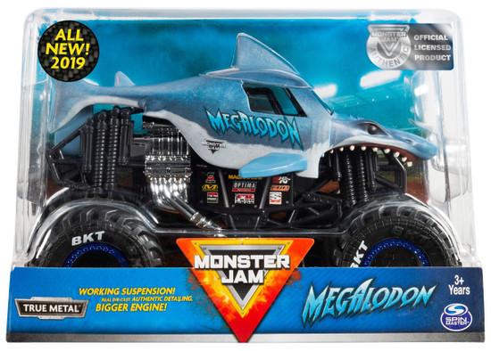 Monster Jam True Metal Megalodon Diecast Car [Black Tires]