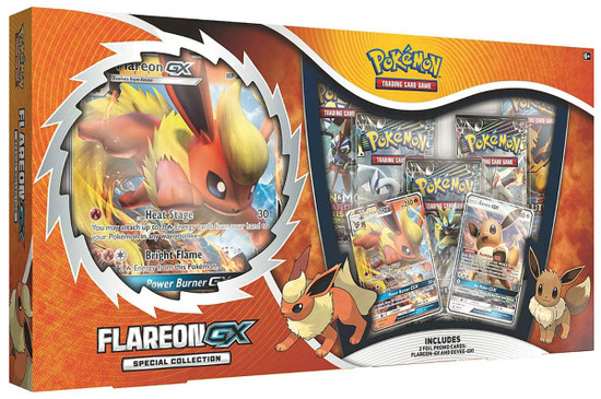 Pokemon Trading Card Game Flareon GX Special Collection [5 Booster Packs, 2 Promo Cards & Oversize Card!]