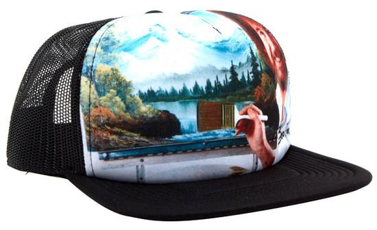 Bob Ross Trucker Snapback Cap