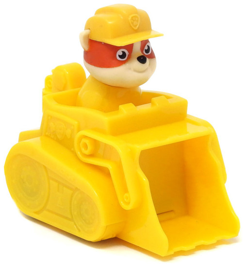 Paw Patrol Rescue Racer Rubble in Construction Vehicle Figure [Figure Does Not Come Out!, Version 2]