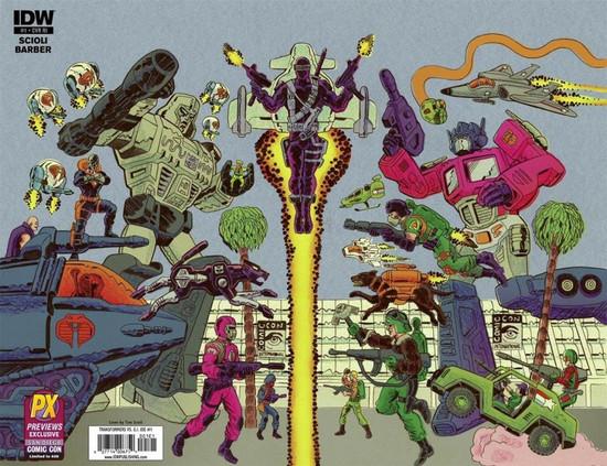 IDW Publishing Transformers Vs GI Joe #1 Comic Book [Diamond Previews SDCC Wraparound Cover C]