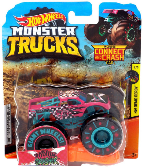 Hot Wheels Monster Trucks HW Demo Derby Podium Crasher Die-Cast Car