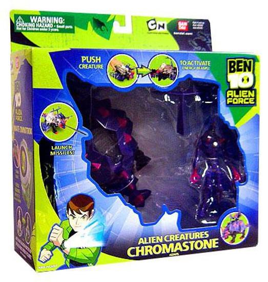 Ben 10 Alien Force Alien Creatures Chromastone Action Figure Set [Damaged Package]