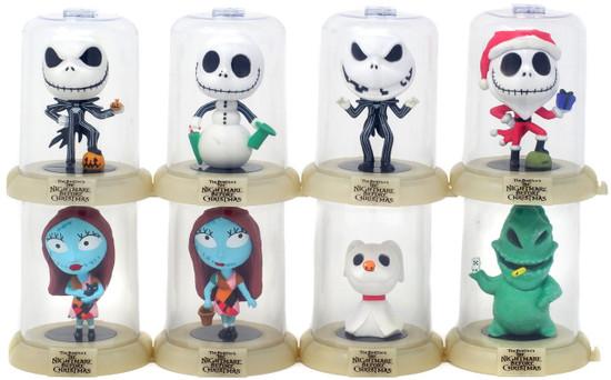 Disney Domez Series 1 Nightmare Before Christmas Set of 8 Figures [Glow-in-the-Dark]