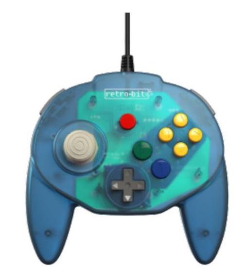 Retro-Bit Tribute64 Connector N64 Connector Controller [Ocean Blue]