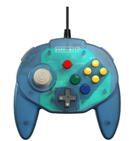 Retro-Bit Tribute64 USB Tribute Nintendo N64 Controller [Ocean Blue]