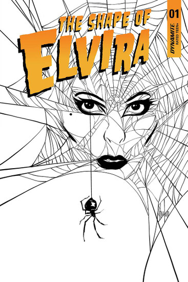 Dynamite Entertainment Elvira Shape of Elvira #1 Comic Book [Strahm Black & White Variant]