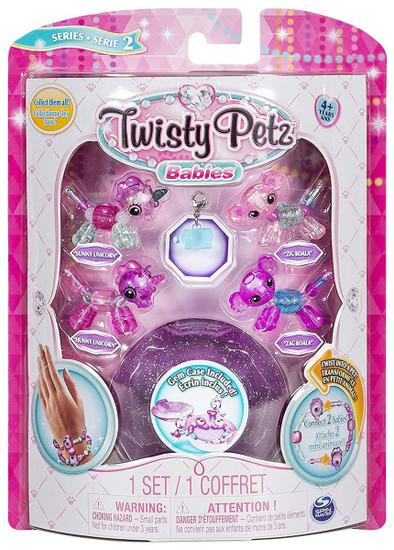 Twisty Petz Babies Series 2 Sunny Unicorn, Hunny Unicorn, Zag Koala & Zig Koala 4-Pack