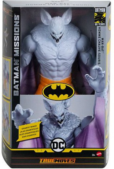 DC Batman Missions Man-Bat (Albino) Deluxe Action Figure [True Moves]