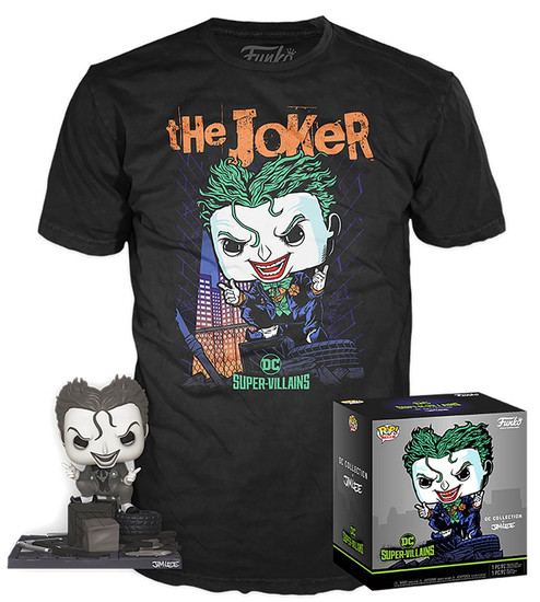 Funko DC Collection by Jim Lee POP! Heroes The Joker Exclusive Vinyl Figure & T-Shirt [Hush, Medium]