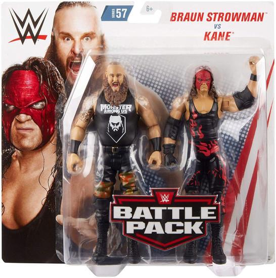 WWE Wrestling Battle Pack Series 57 Braun Strowman & Kane Action Figure 2-Pack