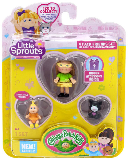 Cabbage Patch Kids Little Sprouts Series 2 Becky Arianna Mini Figure 4-Pack