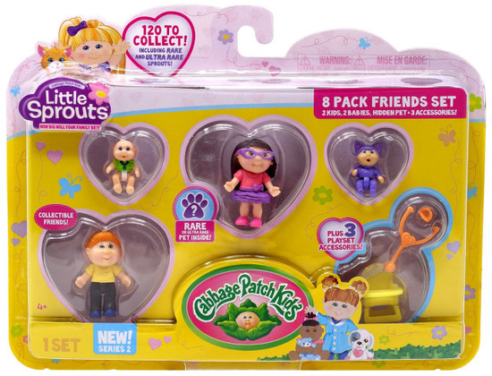 Cabbage Patch Kids Little Sprouts Series 2 Rachel Kylie Mini Figure 8-Pack