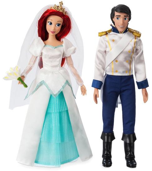 Disney Princess The Little Mermaid Classic Ariel & Eric Exclusive 11.5-Inch Wedding Doll 2-Pack Set
