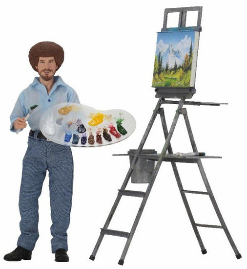 NECA Bob Ross Clothed Action Figure [The Joy of Painting]
