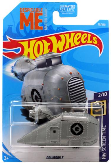 Hot Wheels Despicable Me Minion Made HW Screen Time Grumobile Diecast Car #2/10 [2/10]