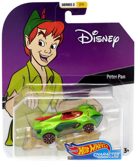 Disney Hot Wheels Character Cars Series 2 Peter Pan Die Cast Car #2/6