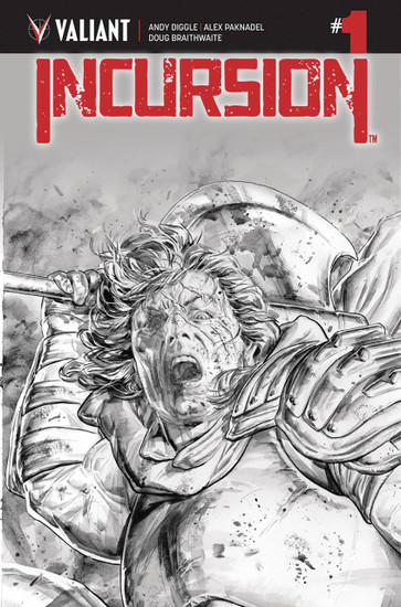Valiant Comics Incursion #1 Comic Book [Doug Braithwaite B&W Variant Cover]