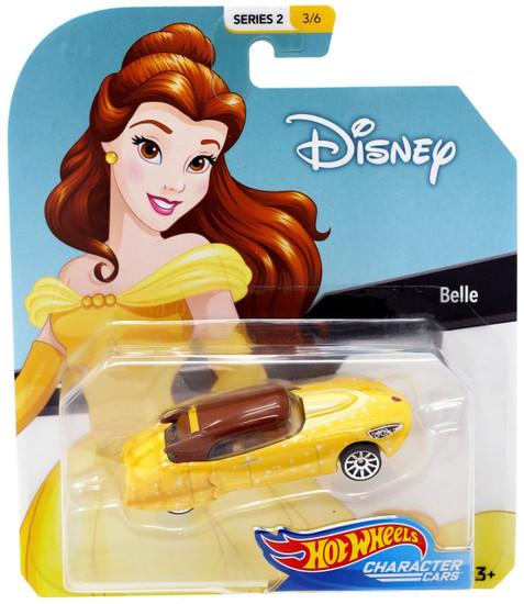 Disney Hot Wheels Character Cars Series 2 Belle Die Cast Car #3/6