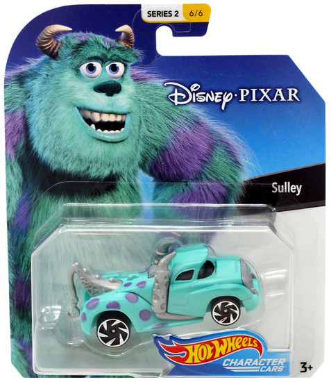 Disney Hot Wheels Character Cars Series 2 Sulley Die Cast Car #6/6