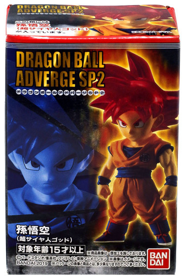 Dragon Ball Super Adverge SP02 Super Saiyan God Goku Mini Figure