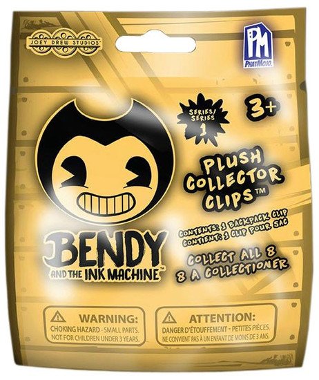 Bendy and the Ink Machine Series 1 Plush Collector Clips Mystery Pack