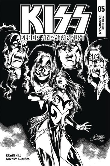 Dynamite Entertainment Kiss Blood Stardust #5 Comic Book [Buchemi Black & White Variant]