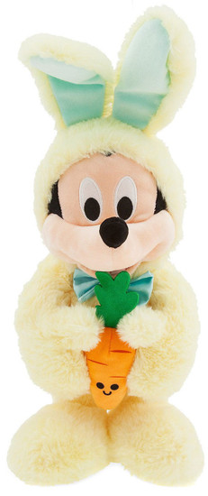 Disney 2019 Easter Mickey Mouse 18-Inch Plush [Yellow Bunny Costume, Holding Carrot]
