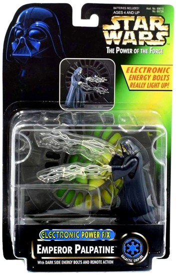 Star Wars Return of the Jedi Power of the Force POTF2 Electronic Power F/X Emperor Palpatine Action Figure