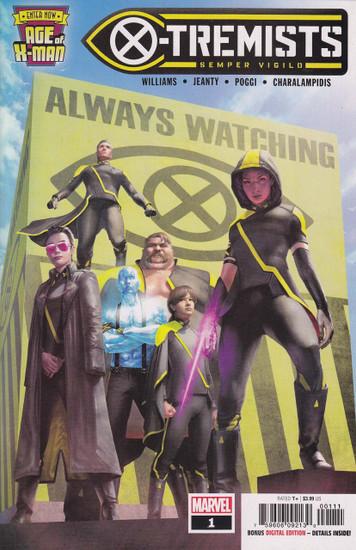 Marvel Comics Age of X-Men: X-Tremists #1 Comic Book