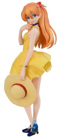 Sega Neon Genesis Evangelion New Movie Asuka Langly Sohryu 9-Inch Collectible PVC Figure [Summer Dress]