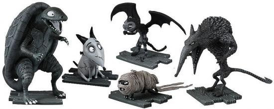 Frankenweenie Turtle Monster, After Life Sparky, Vampire Cat, Hamster Mummy & Wererat Mini Figure 5-Pack [Damaged Package]