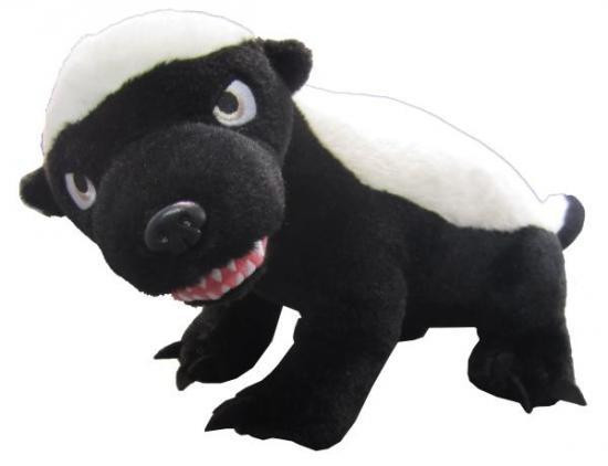 """Honey Badger 11-Inch Plush [""""R"""" Rated Version]"""